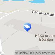Karta Hako Ground & Garden Halmstad, Sverige