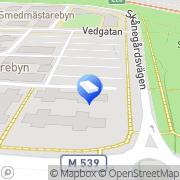 Karta Bostadsrättsföreningen Sadelmakaren 2 Bunkeflostrand, Sverige