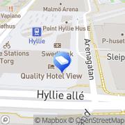 Karta Regus - Malmo, Hyllie Malmö, Sverige