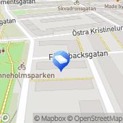 Karta Bostadsrättsföreningen Bara 1 Malmö, Sverige