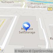 Karte MyPlace - SelfStorage Potsdam, Deutschland