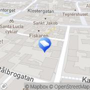 Karta ShopSetup AB Lund, Sverige
