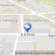 Karta E.K. Print Lund, Sverige