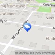 Karta Capitoleum Entreprenad AB Lund, Sverige