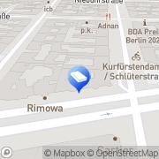 Karte DMP - Detektei Makowski & Partner Berlin, Deutschland