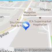 Karta Inne i Haga Karlstad, Sverige