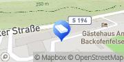 Karte Gästehaus Am Backofenfelsen Freital, Deutschland