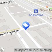 Karta T & T Information Kristianstad, Sverige