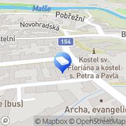 Map Jan Kára JUDr. - advokátní kancelář Kaplice, Czech Republic
