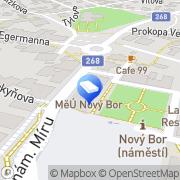 Map Cehák Jiří, JUDr. & Eclerová Aneta Mgr. - společná advokátní kancelář Nový Bor, Czech Republic
