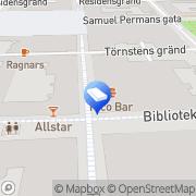 Karta Gudrun Ros grafisk form Östersund, Sverige