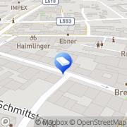 Karte BAIER-THOMA Architekten Diplomingenieure ZT- Knittelfeld, Österreich