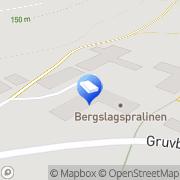Karta Stripa Gruvmiljö Guldsmedshyttan, Sverige