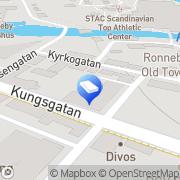Karta Länsförsäkringar Fastighetsförmedling Ronneby, Sverige