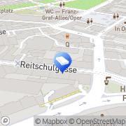 """Karte """"MAIL BOXES ETC."""" Graz, Österreich"""
