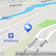 Karte Gärtnerei d Stadtamt Kindberg Kindberg, Österreich