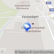 Karta Apoteket Svanen Odensbacken, Sverige