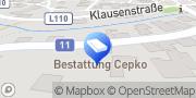Karte Bestattung Cepko Alland, Österreich