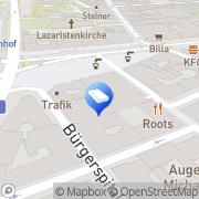 Karte Spaces - Vienna, Spaces Central Station Wien, Österreich