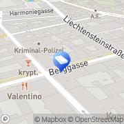 Karte Frapag Realitäten Wien, Österreich