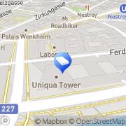 Karte UNIQA Tower Wien, Österreich