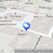 Mapa Gołąb Zbigniew, adwokat Świdnica, Polska