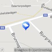 Karta Flens VVS AB Flen, Sverige