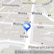 Mapa Pieluszyński Poznań, Polska
