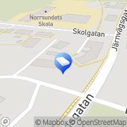 Karta Bergmans Allservice Norrsundet, Sverige