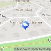 Karta P&D Städservice Stockholm, Sverige