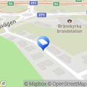 Karta Linkans Jourbud Hökmossen, Sverige