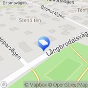 Karta Langs Plåt och Smide Hökmossen, Sverige