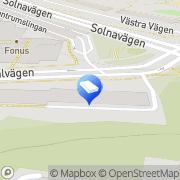 Karta HusmanHagberg Solna, Sverige