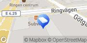 Karta Regus - Stockholm, Ringvagen Sodermalm Stockholm, Sverige