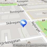 Karta Fama Information & Utveckling Stockholm, Sverige