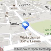 Mapa Pinker Grzegorz. Pogrzeby Łasin, Polska