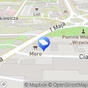 Mapa Biuro Nieruchomości Sverum Częstochowa, Polska
