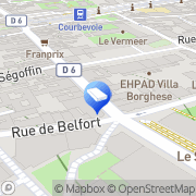Carte de Chez Madame Lau Courbevoie, France