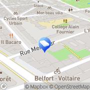 Carte de Mairie de Paris Direction des Parcs Jardins et Espaces Verts Paris, France