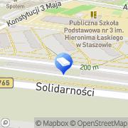 Mapa Transport Staszów, Polska