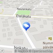 Kartta Rauman kaupunki Avoin päiväkoti Sinilintu Rauma, Suomi