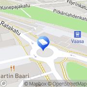 Kartta Asianajotoimisto Ch. Eriksson Vaasa, Suomi