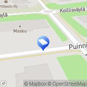 Kartta Porin Kyrönkulma Kiinteistö Oy Pori, Suomi