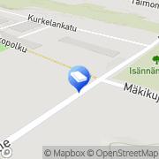 Kartta Naantalin kaupunki Ruonankulman päiväkoti Veitikat Naantali, Suomi