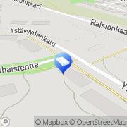 Kartta Raision kaupunki ryhmäperhepäiväkoti Hallipelto Raisio, Suomi