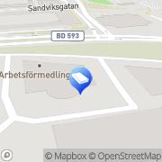 Karta Arbetsförmedlingen Luleå, Sverige