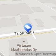 Kartta Visa Catering Raisio, Suomi