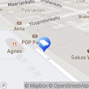 Kartta Asianajotoimisto JuraNova Turku, Suomi