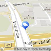 Kartta Kiinteistö Oy Itikanmäen Teollisuustalo Seinäjoki, Suomi