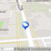 Kartta Salibandykeskus Kanuuna Kokkola, Suomi